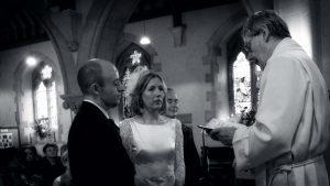 Bride & Groom at Altar