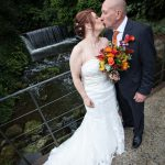 Bride & Groom at waterfall