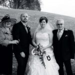 Bride, Groom with parents